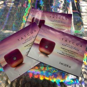 3x 3mL Tatcha Violet C Radiance Mask 9mL Total